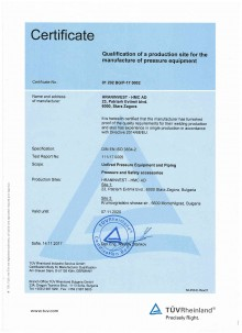 DIN EN ISO 3834 2 Qualification of a production site for the manufacture of pressure equipment EN